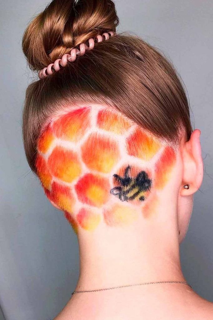 Fiery Honeycomb Undercut