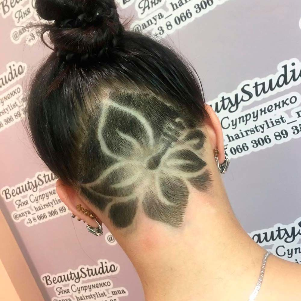 Flower Undercut Design