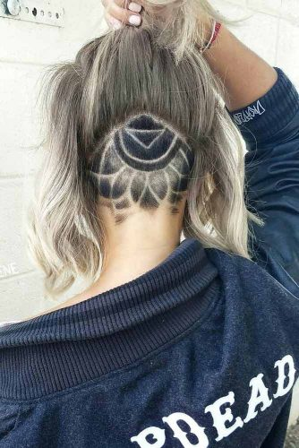 Simple But Significant Mandala Undercut #undercutdesigns #haicuts #bobhaircut