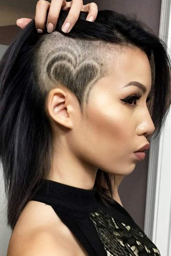 Heart Undercut Design #undercutdesigns #haicuts #lobhaircut