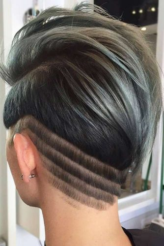 Chic Side Stripes #undercutdesigns #haicuts #pixiecut