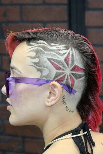 Head Turning Star Undercut Design #undercutdesigns #haicuts #bobhaircut