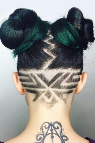 Tribal Inspired Nape Design #undercutdesigns #haicuts #spacebuns