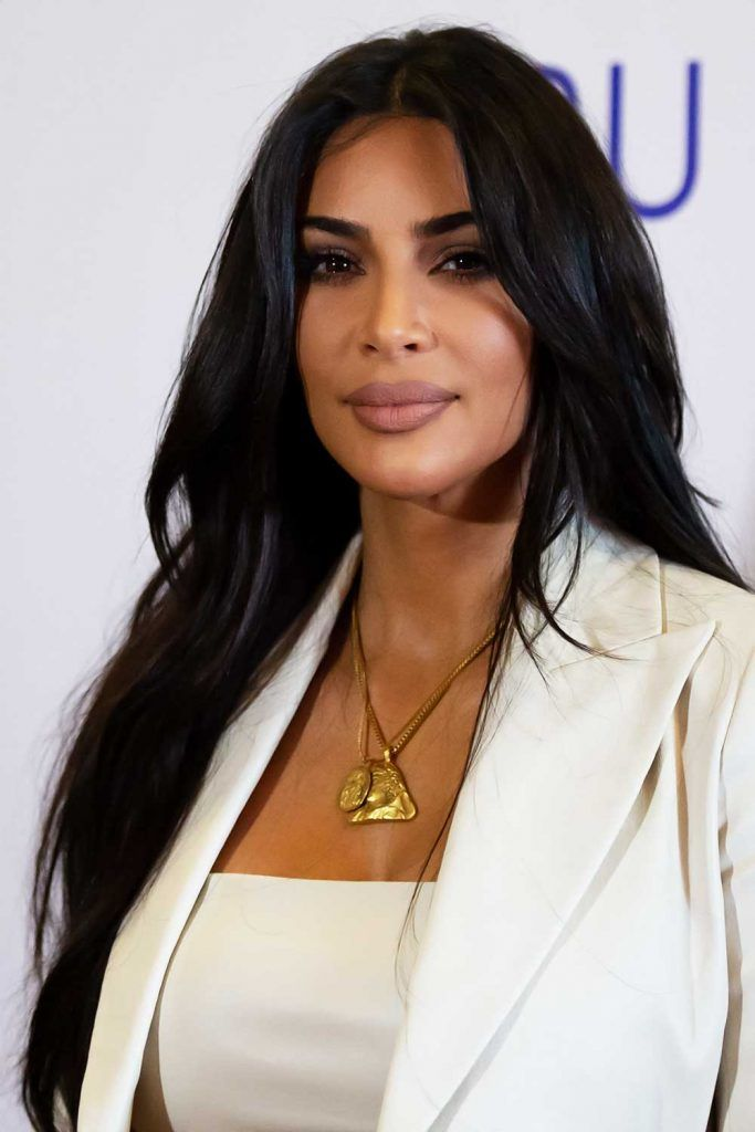 Kim Kardashian #wavyhair #hairtypes