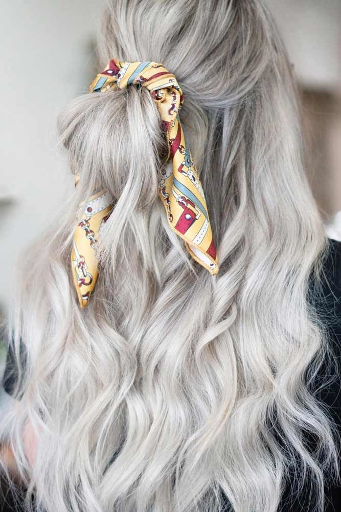 Easy Haircut With Bandana #wavyhair #hairtypes