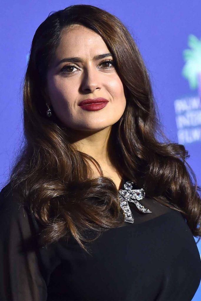 Salma Hayek #wavyhair #hairtypes