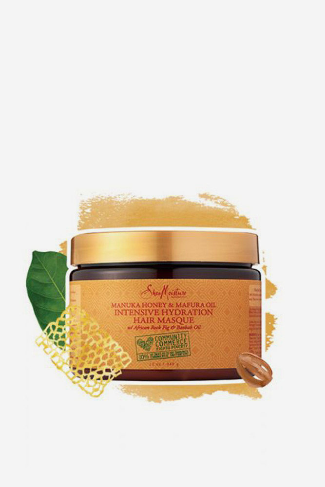SheaMoisture Manuka Honey & Mafura Oil Intensive Hydration Hair Masque #2bhair #wavyhair #hairtypes #hairproducts