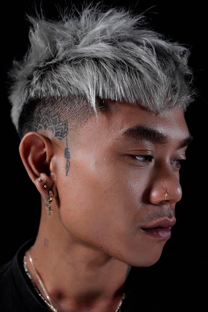Spiky Blonde Hair #spikyhair #blondehair #asianhairstyles