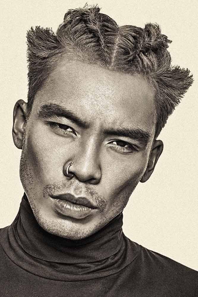 Braided Top #asianbraid #manbraid #asianhairstyles