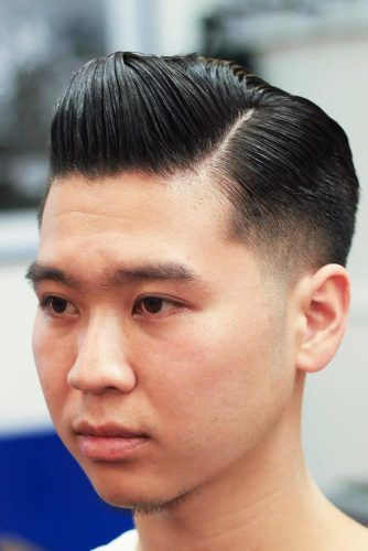 Side Part Quiff #asianhairstyles