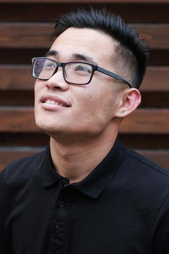 Side Swept Disconnected Undercut #asianhairstyles