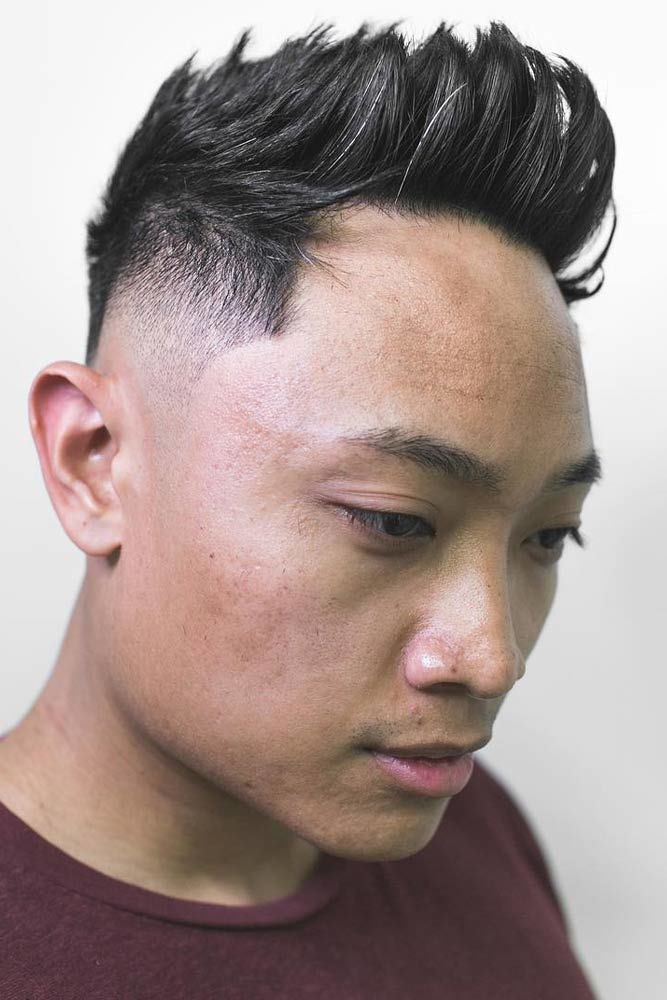 Styled Up Textured Top Skin Fade #asianhairstyles
