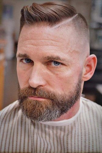 Ivy League With Hard Part #hardpart #beardstyles #ivyleaguehaircut