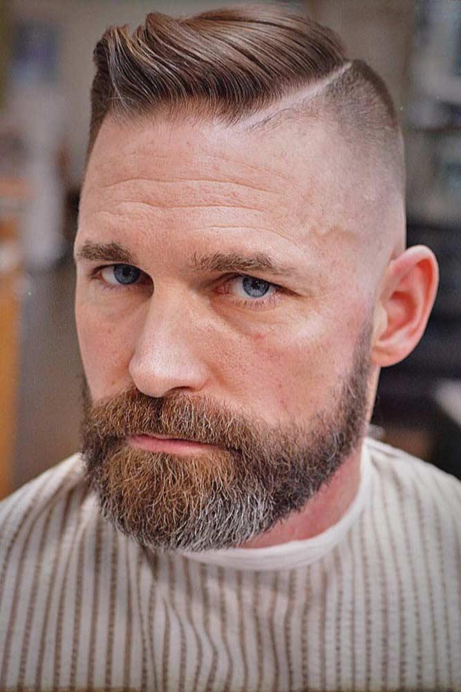Ivy League With Hard Part #hardpart #beardstyles #ivyleaguehaircut