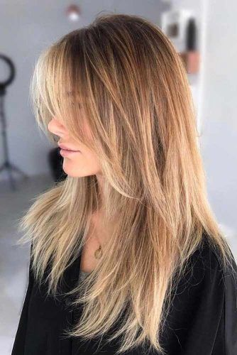 Long Straight Shaggy Haircut With Center Parted Bangs #longshaghaircut #shaghaircut #haircuts #longhair
