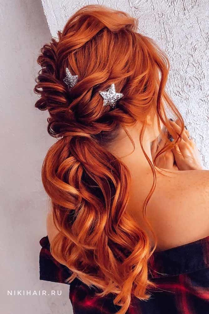 Twisted Pony With Stars #lowponytails #ponytails