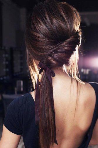 Diagonal Twisted Low Ponytail #ponytail