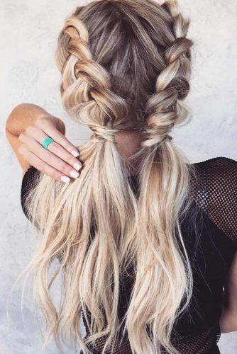 Dutch Braids Into Pony #ponytail #braids