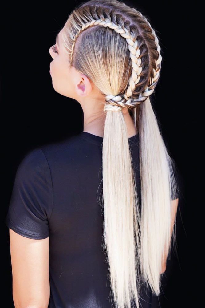 French Pigtails #lowponytails #ponytails #braids