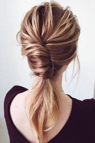 Low Pony With French Twist #ponytail
