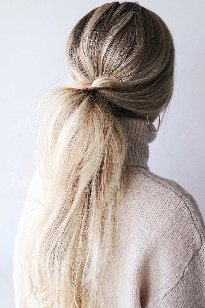 Messy Low Twisted Pony #updo #ponytail