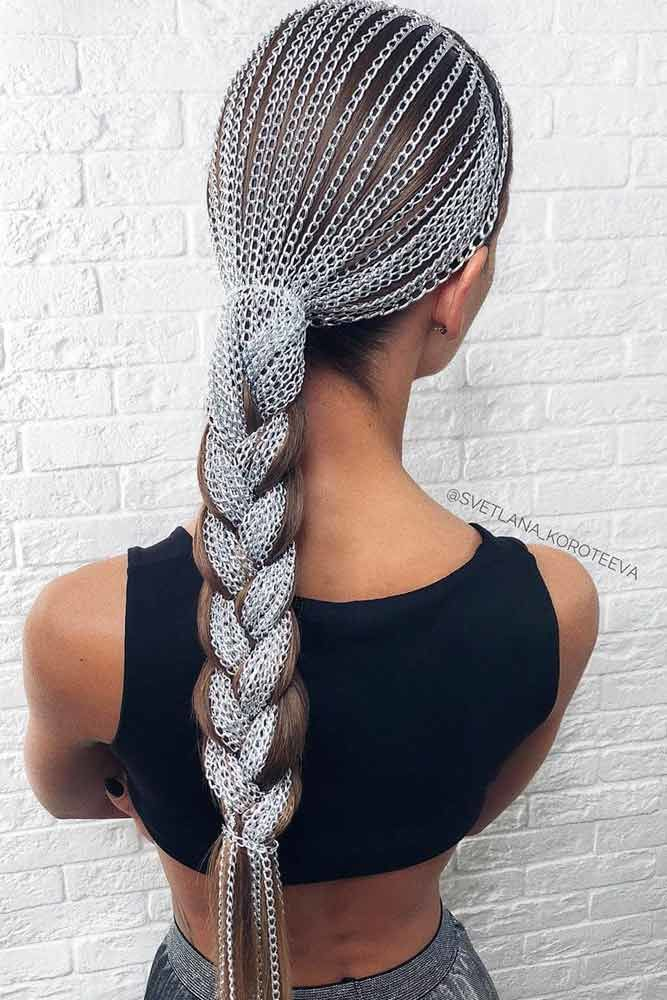 Metal Ponytail #lowponytails #ponytails #braids