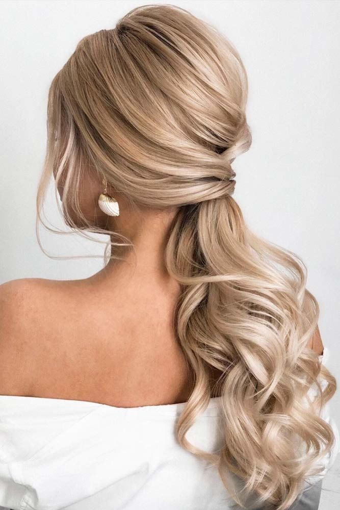 Voluminous Waves Styling Pony #updo #ponytail