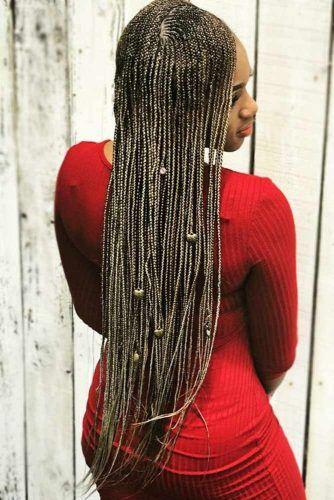 Micro Braids With Hearts #braids