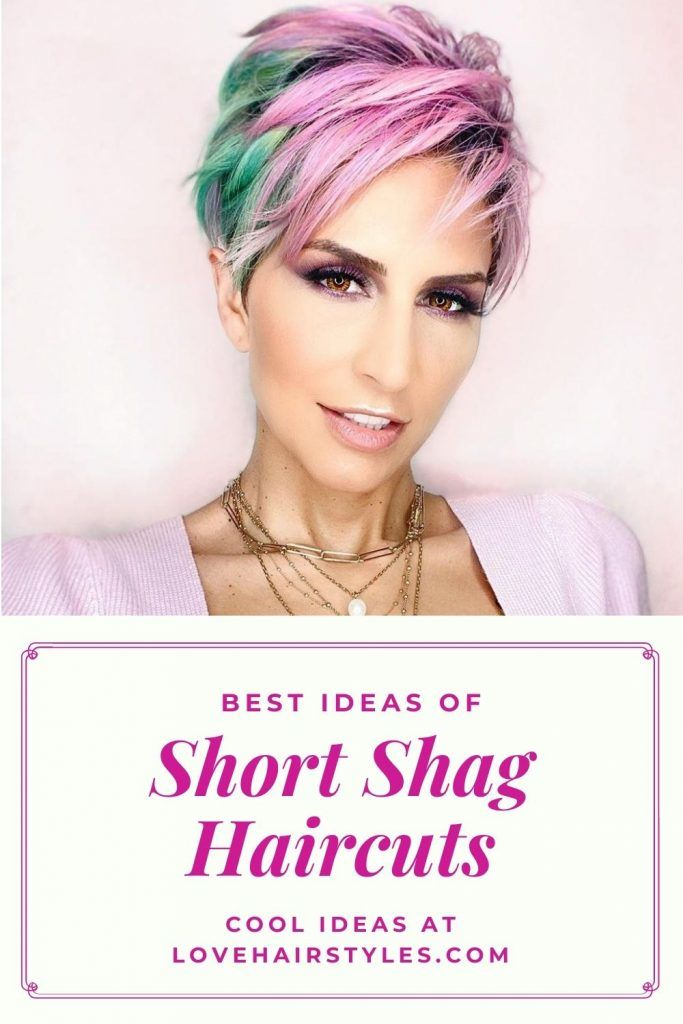 How Do You Style A Short Shaggy Haircut? #shortshaghaircuts #shorthaircuts #haircuts #shaghaircuts