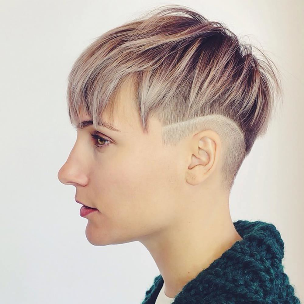 Shaved Line Undercut Pixie #shortshaghaircuts #shorthaircuts #haircuts #shaghaircuts