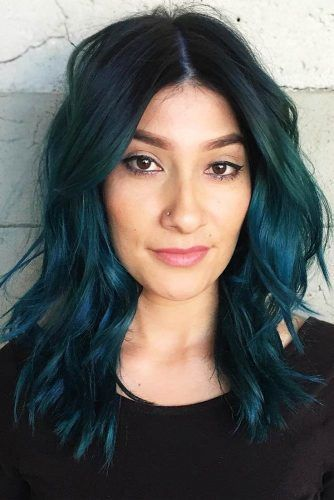 Aqua Teal #tealhair #brunette
