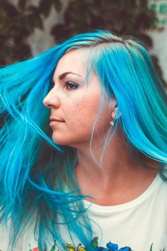 Aquamarine Teal Hair