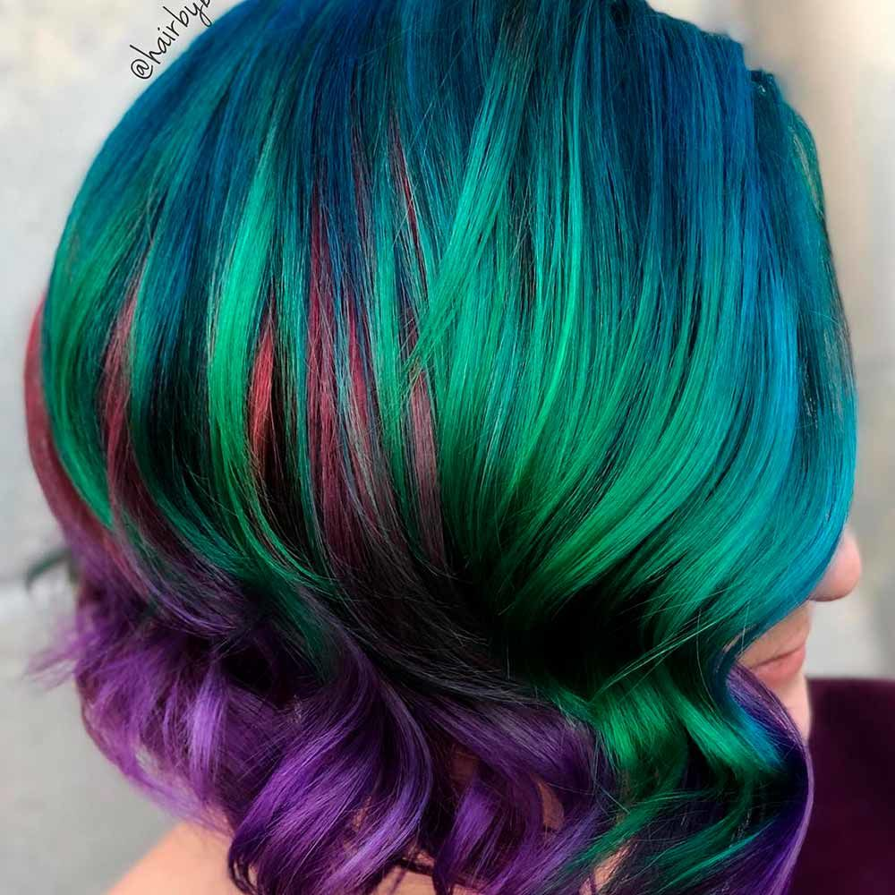 Aquatic Teal Hair