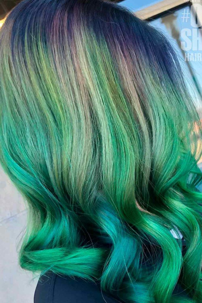 Triple Green Hair