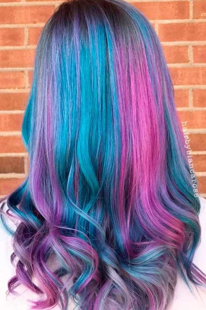 Purple, Fuchsia & Teal Triple Ombre