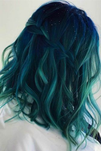 Midnight Teal #tealhair #brunette #balayage