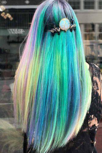 Neon Sky #tealhair #rainbowhair
