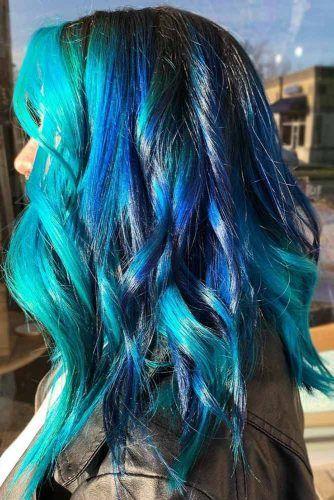 Nightfall Blue & Teal #bluehair #tealhair