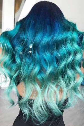 Ocean Blues #tealhair #bluehair