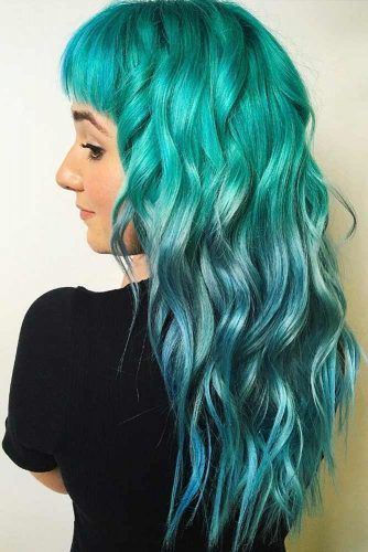 Teal With Sky Blue #tealhair #bluehair #ombre