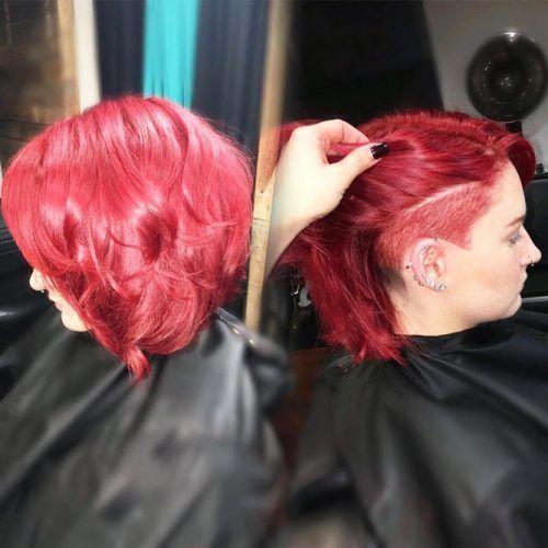 A line Lob With Undercut #undercutbob #haircuts #undercut #bobhaircut
