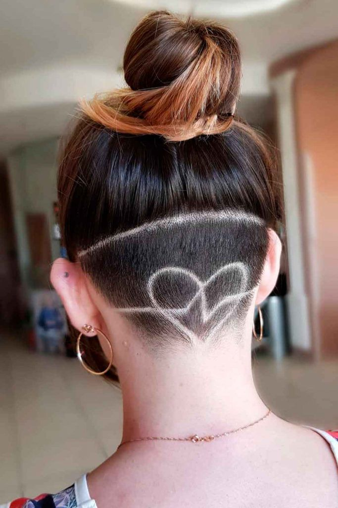 Short Bob With Heart Undercut Design