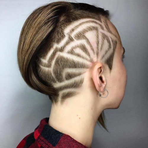 Side Hair Tattoo For Short Bob #undercutbob #haircuts #undercut #bobhaircut