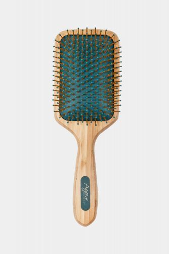 Healing Oil Natural Bamboo Paddle Brush #hairbrush #hairproducts