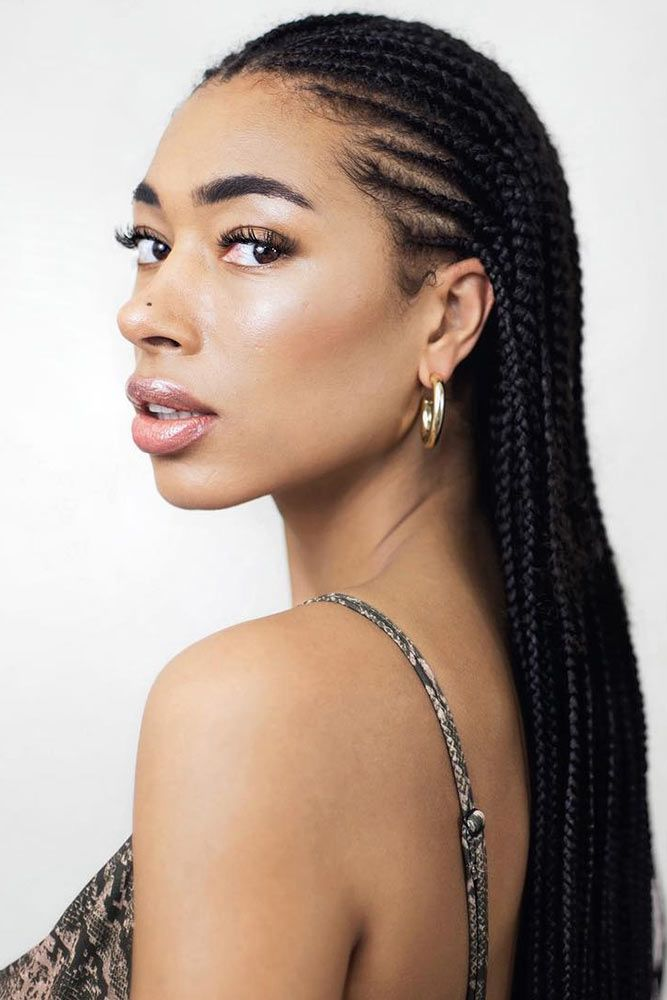 Hot & Long Cornrow Braids #braids #naturalhair