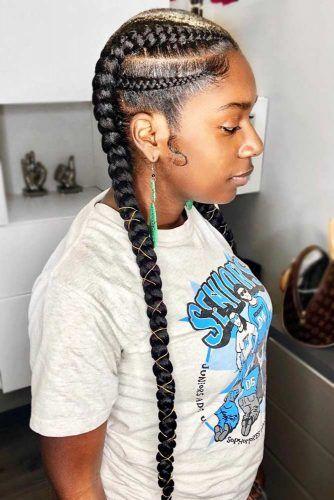 Cute Double Ghana Braids #braids #naturalhair