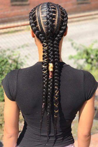Creative Feed In Braids #braids #naturalhair
