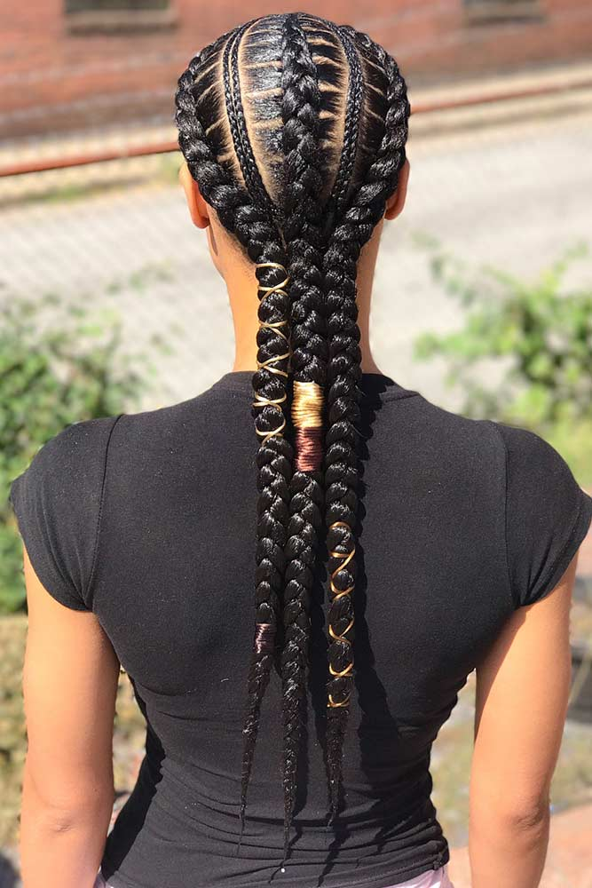 Creative Feed In Braids #braids #naturalhair