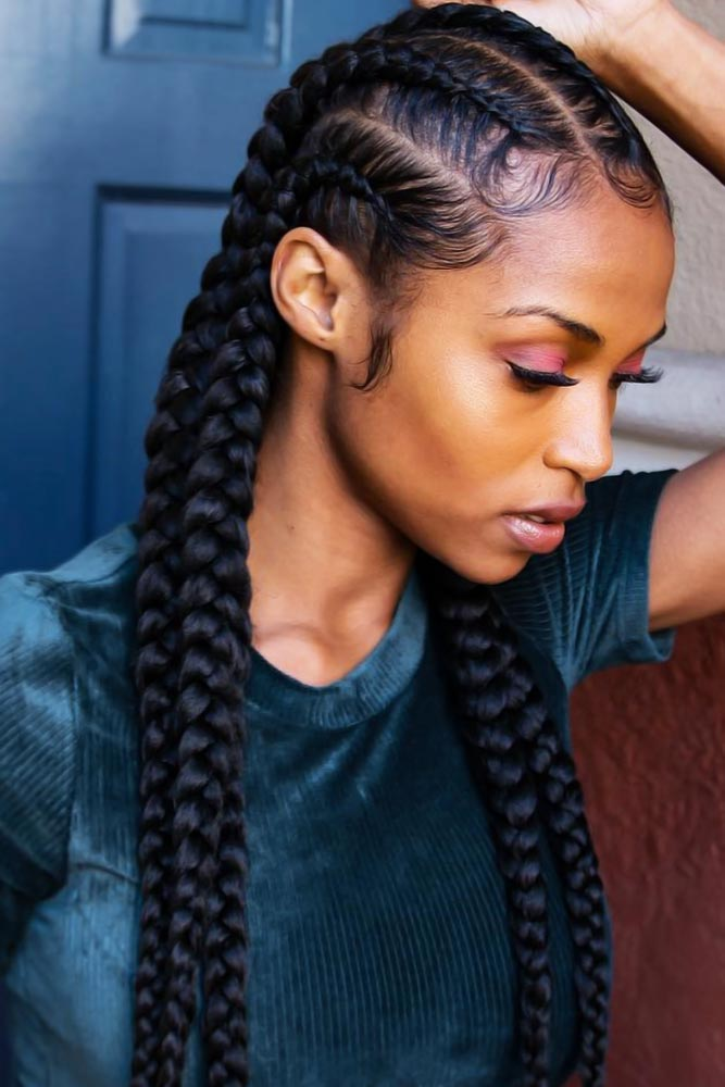 Sleek Dutch Braids #braids #naturalhair
