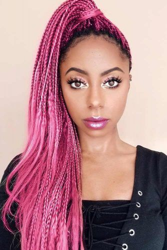 Braided Pony With Loose Ends #braids #naturalhair #ponytail